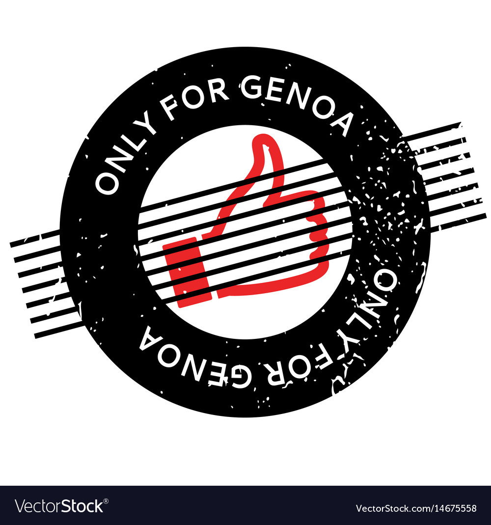 Only for genoa rubber stamp vector image