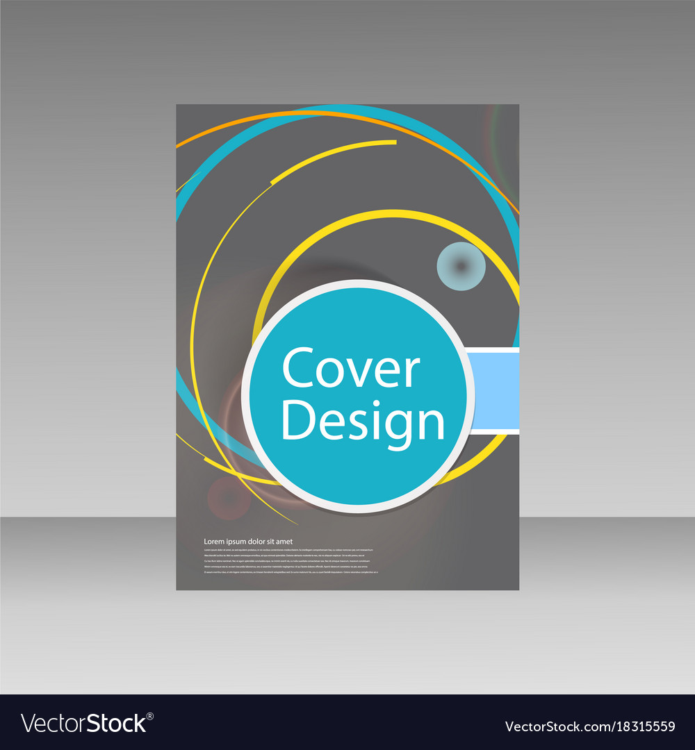 abstract line circle design brochure template vector image