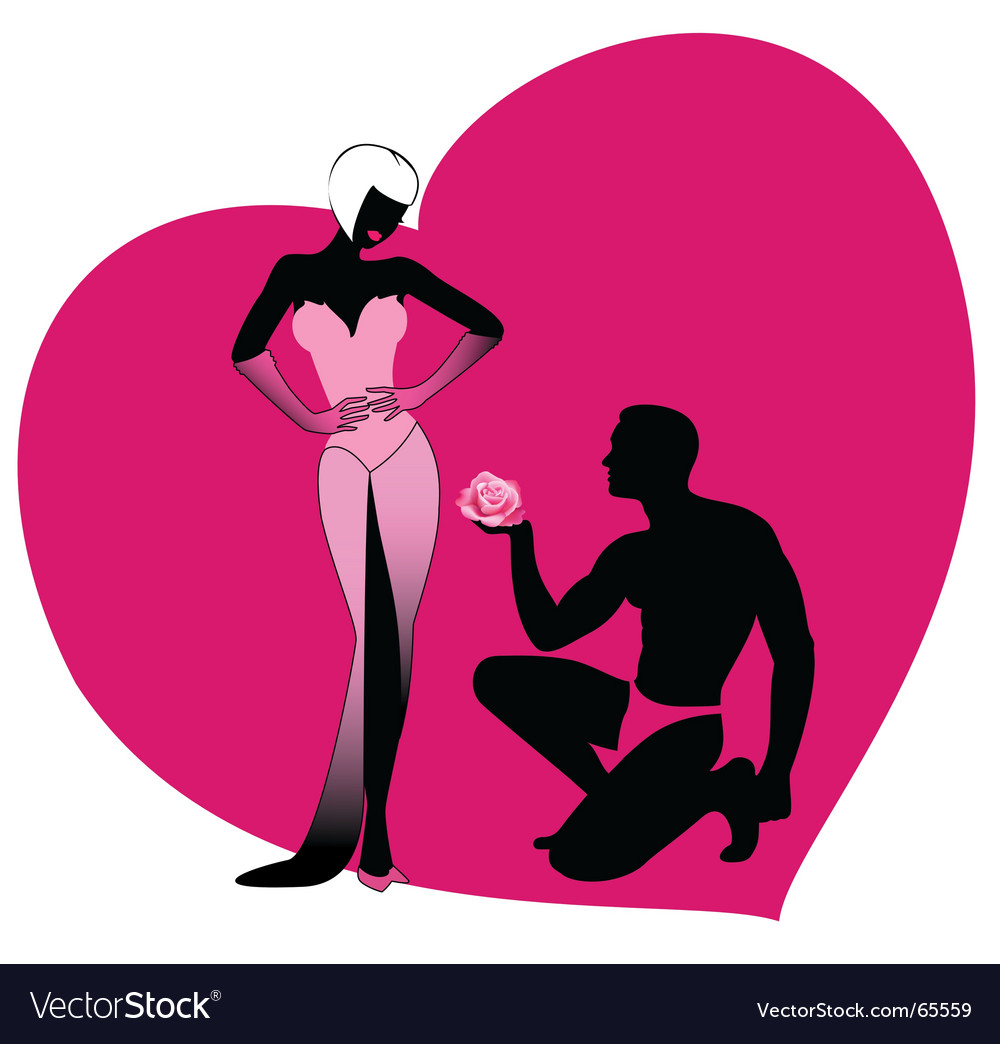 Valentine's lovers vector image