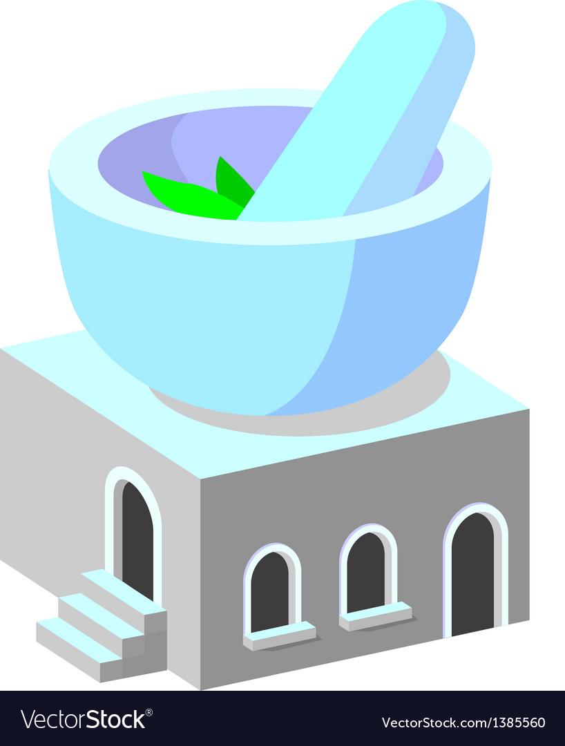 Icon pharmacy vector image