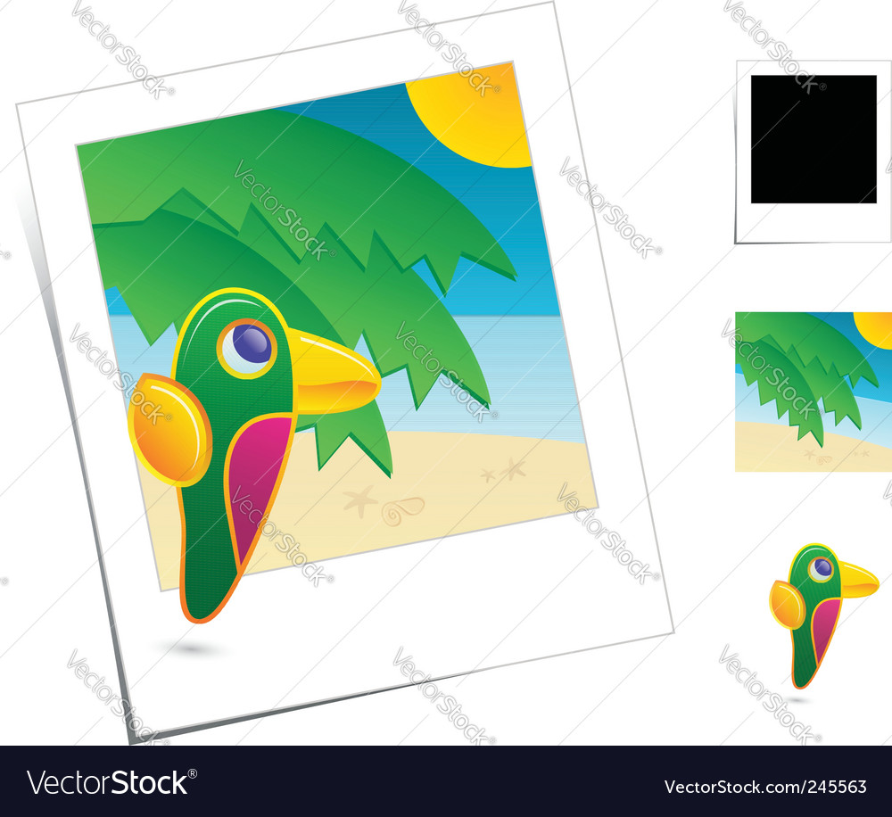 Animal scene vector image