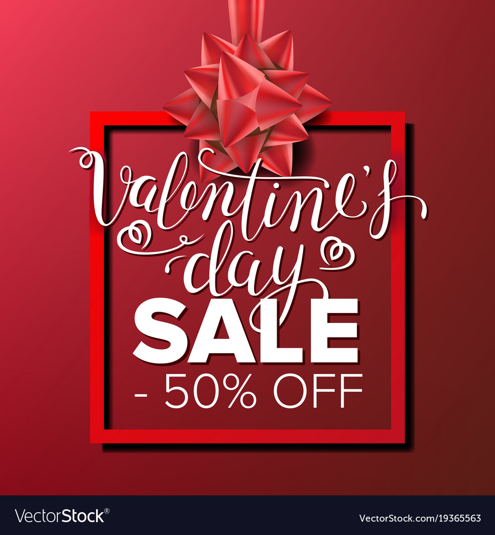 Valentine s day sale banner business royalty free vector valentine s day sale banner business vector image kristyandbryce Image collections
