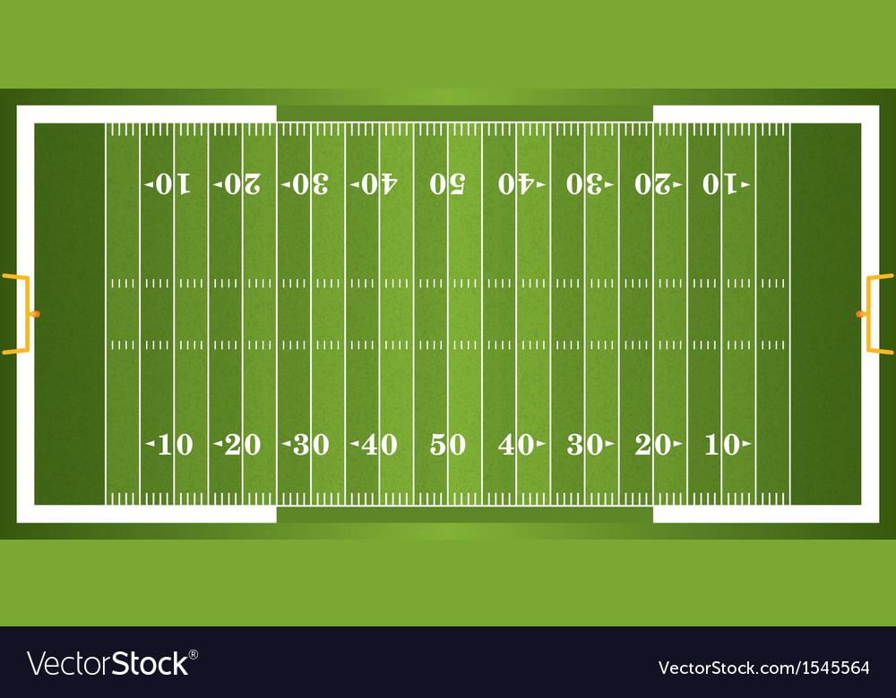 Textured Grass American Football Field vector image