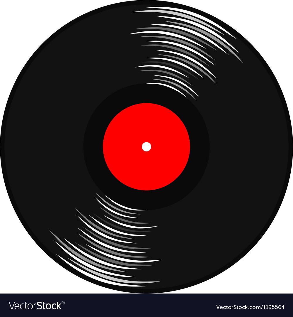 Vinyl Gramophone Record Royalty Free Vector Image