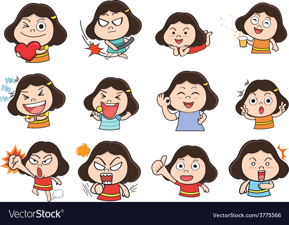 Girl Acting vector image