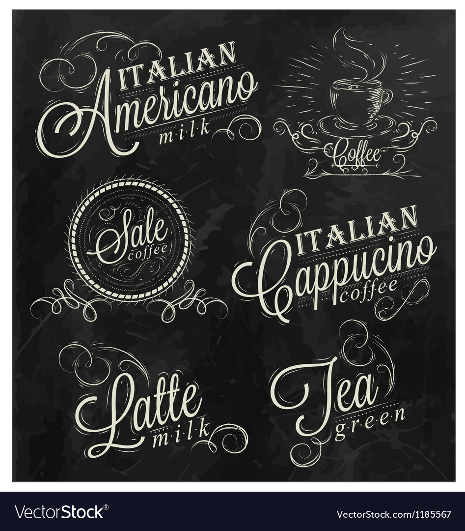 Names of coffee drinks vector image