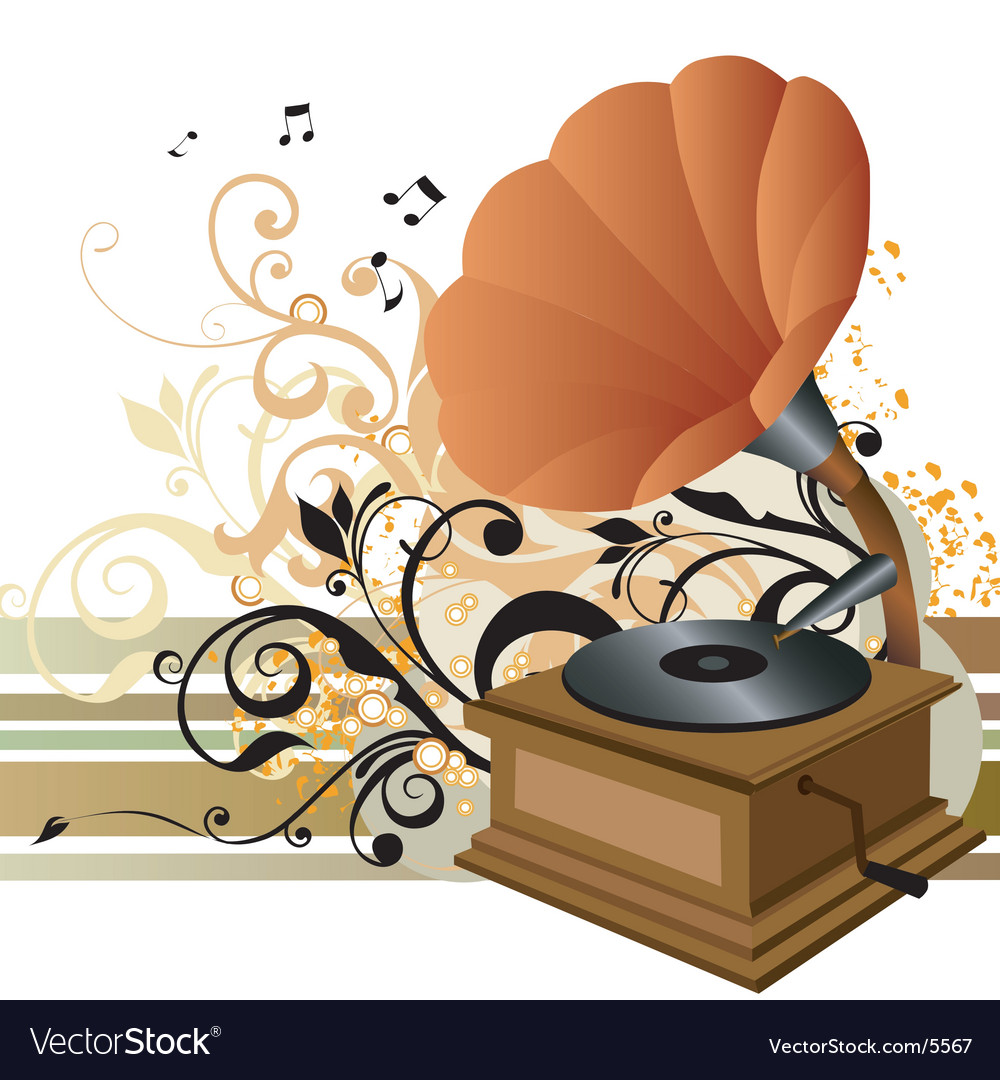 Gramophone illustration vector image