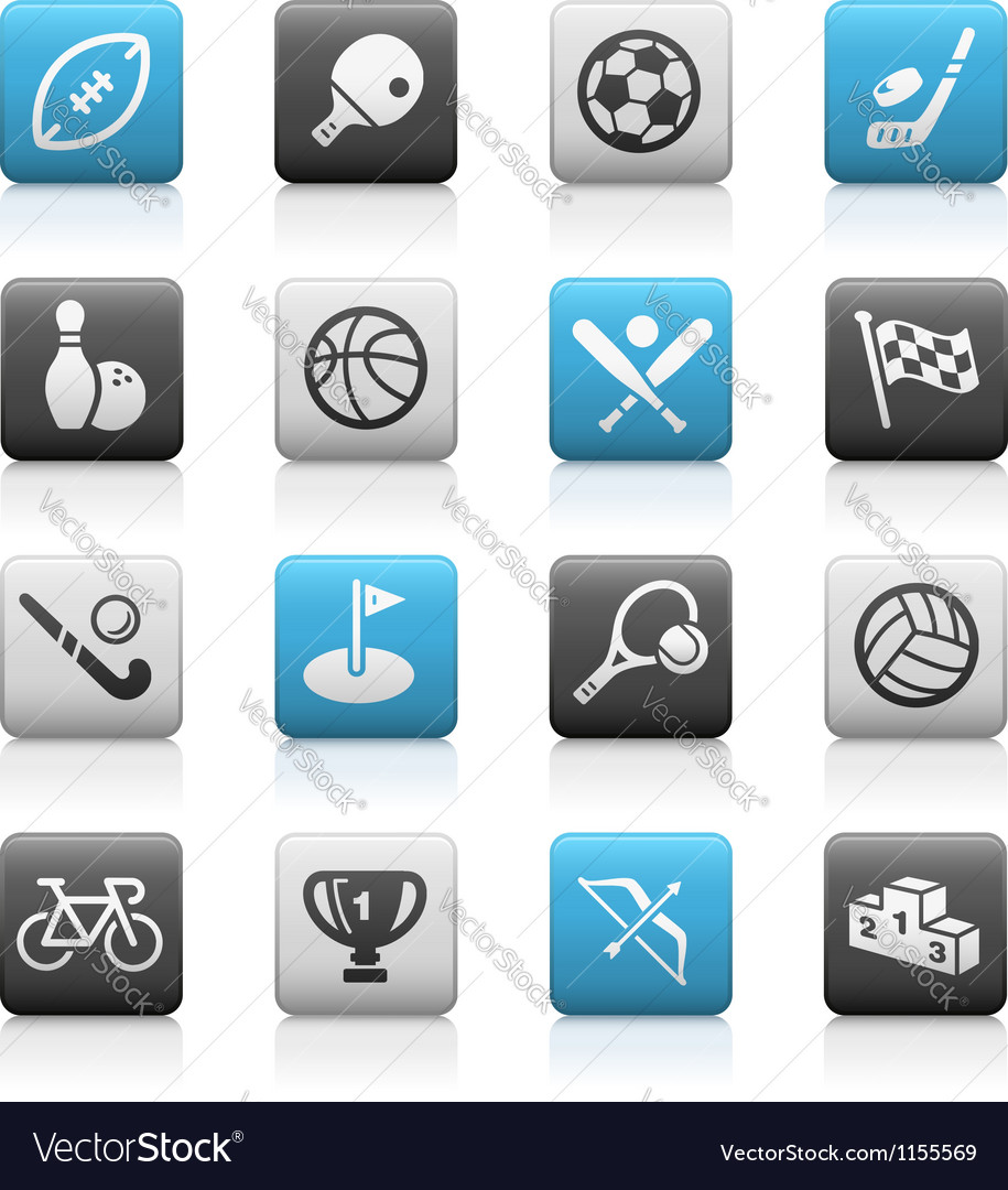 Sports Icons Matte Series vector image