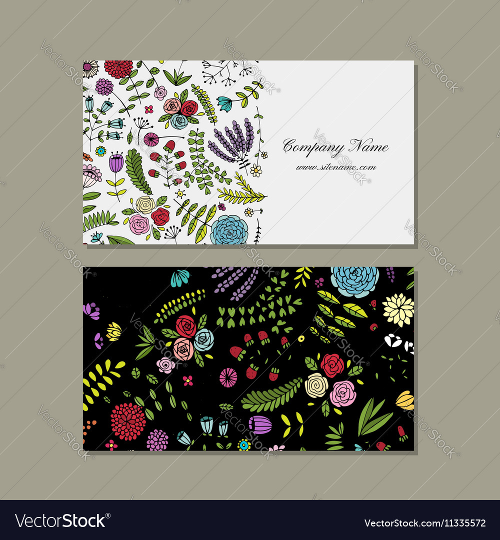 Free Business Card Floral Design Choice Image - Card Design And ...