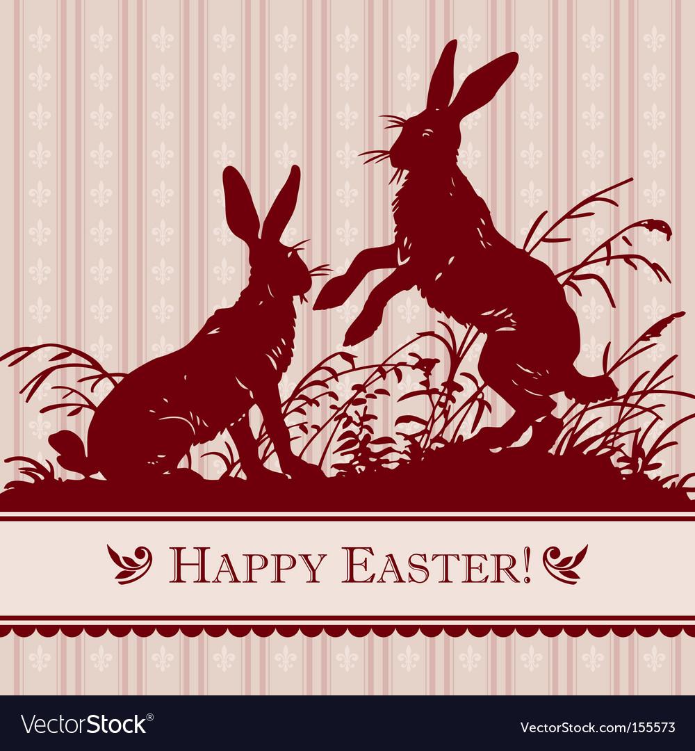 Antique Easter background vector image