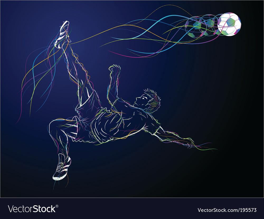 Kick sketch vector image