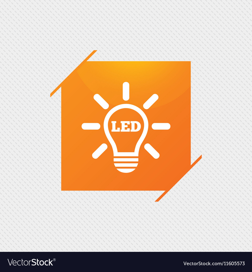Wonderful led lamp symbol images electrical and wiring diagram led light lamp icon energy symbol royalty free vector image biocorpaavc Images