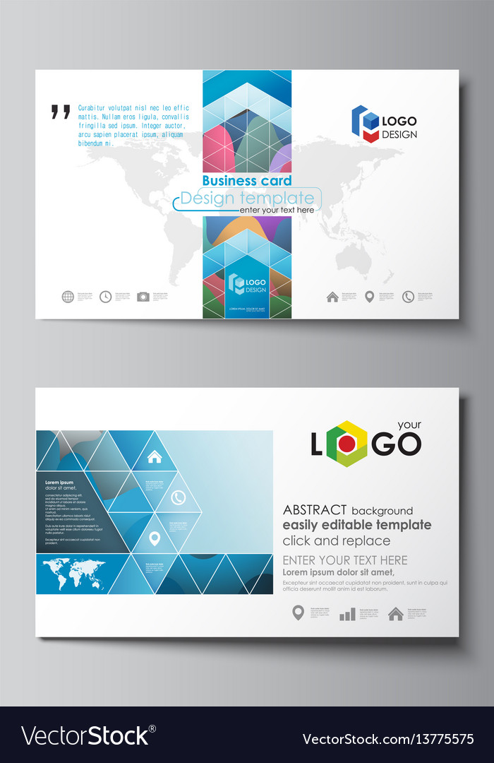 Business card templates easy editable layout vector image accmission Gallery