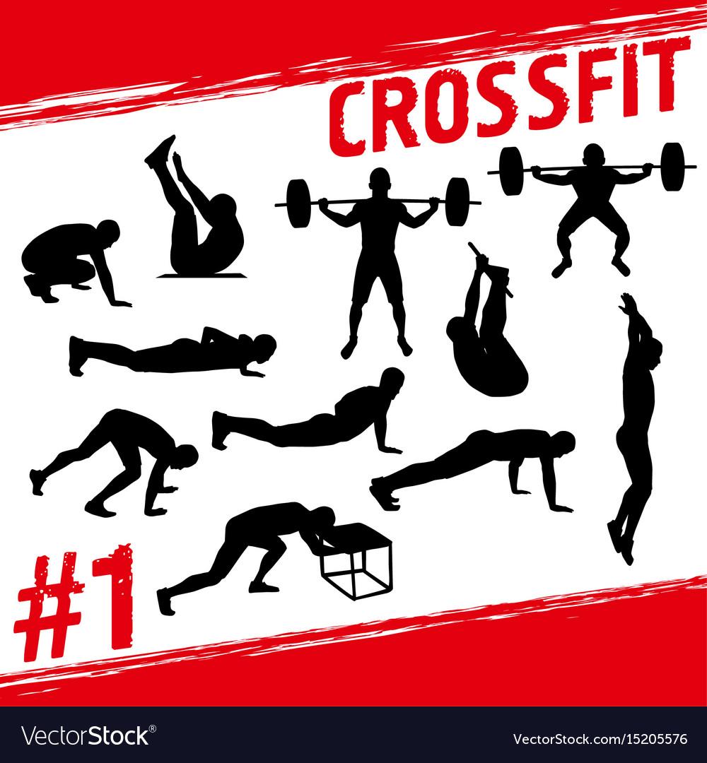 Crossfit concept vector image