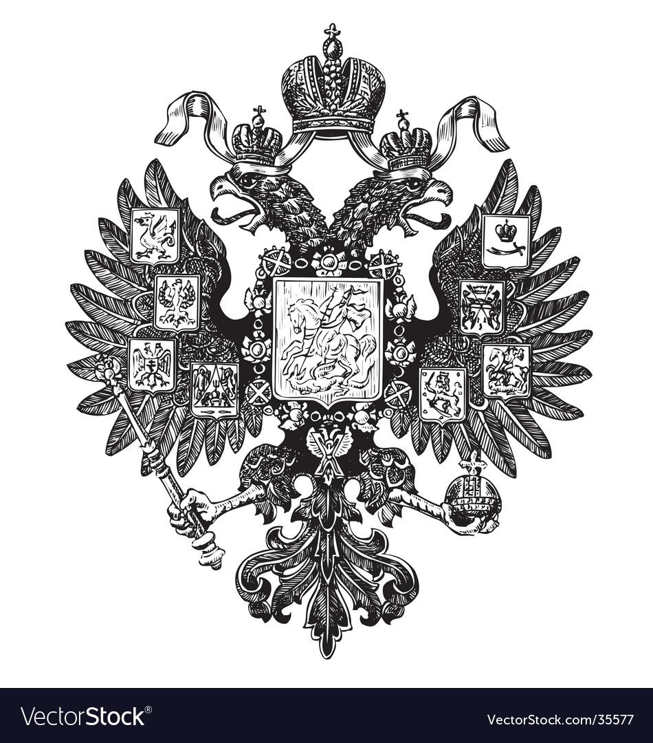 Russian heraldry emblem vector image
