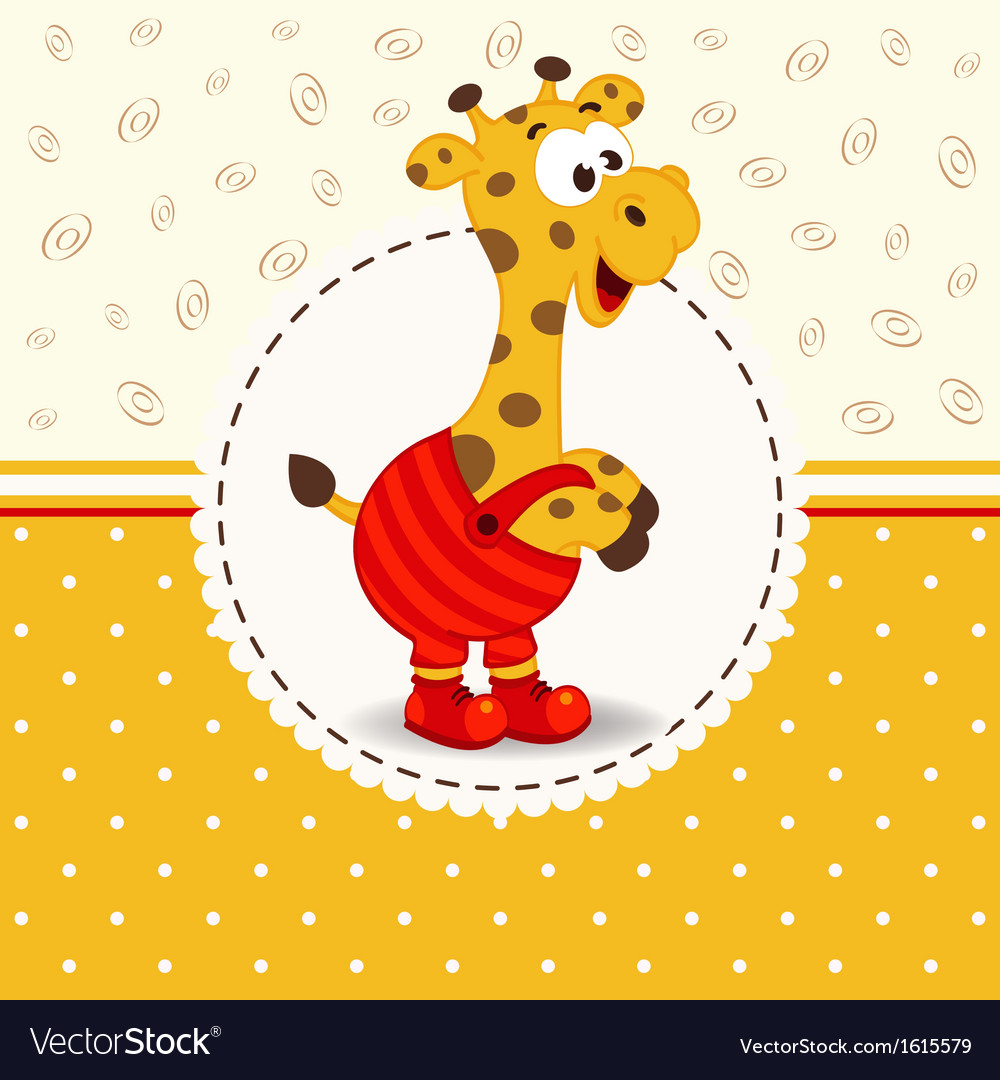 Giraffe in pants vector image
