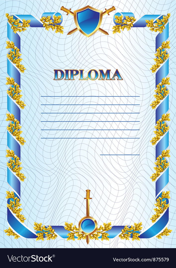 military diploma royalty vector image vectorstock military diploma vector image