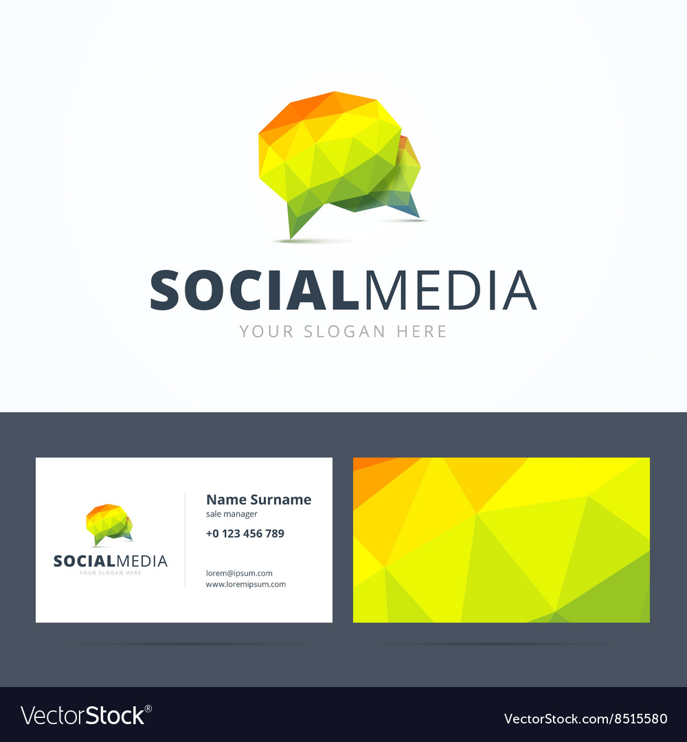 Social media logo and business card template vector image social media logo and business card template vector image magicingreecefo Images