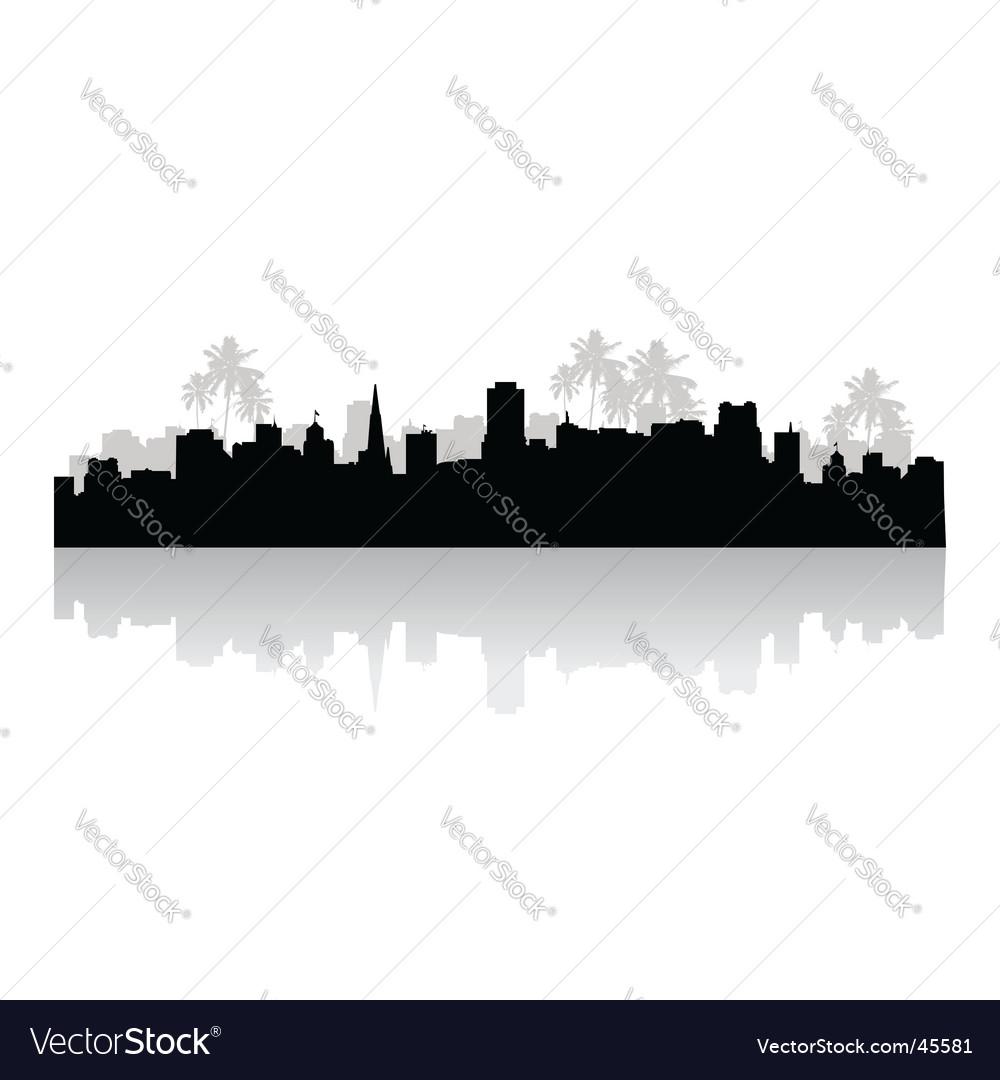 Tropical cityscape Vector Image