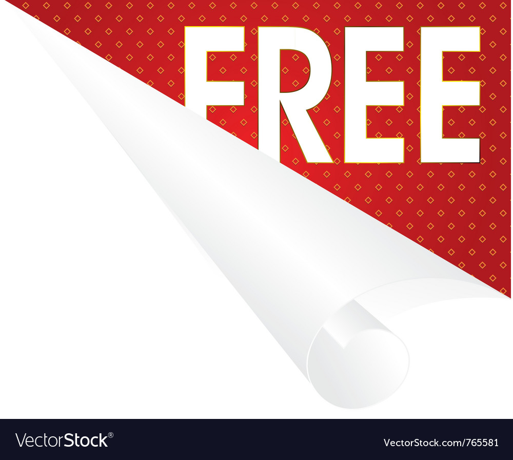 Free label paper Vector Image