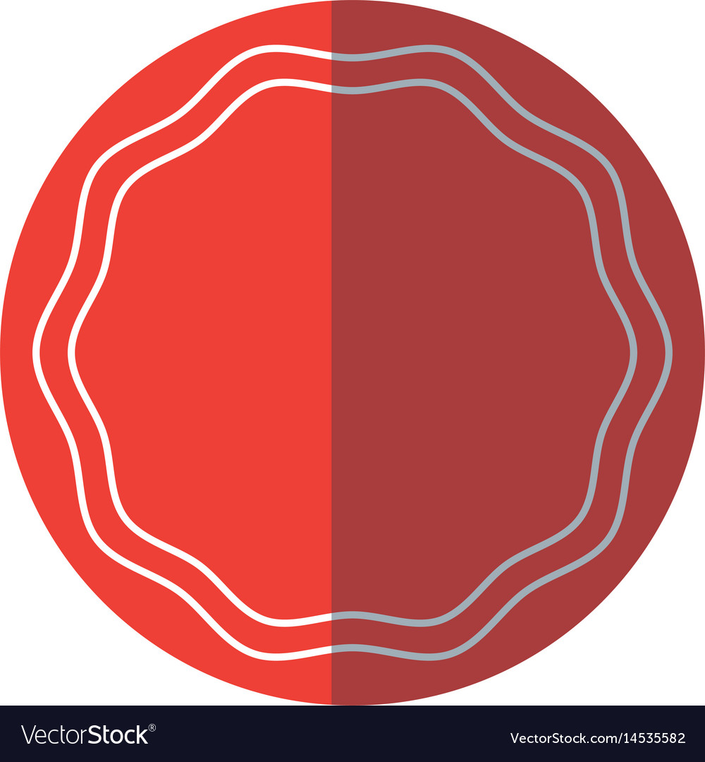 Label sticker decoration frame blank red circle vector image