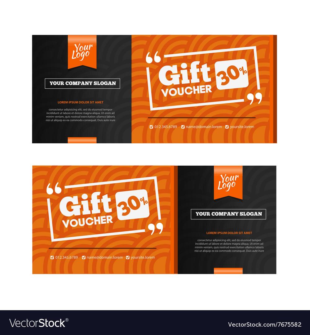 Two Coupon Voucher Design Gift Voucher Template Vector Image  Coupon Voucher Template