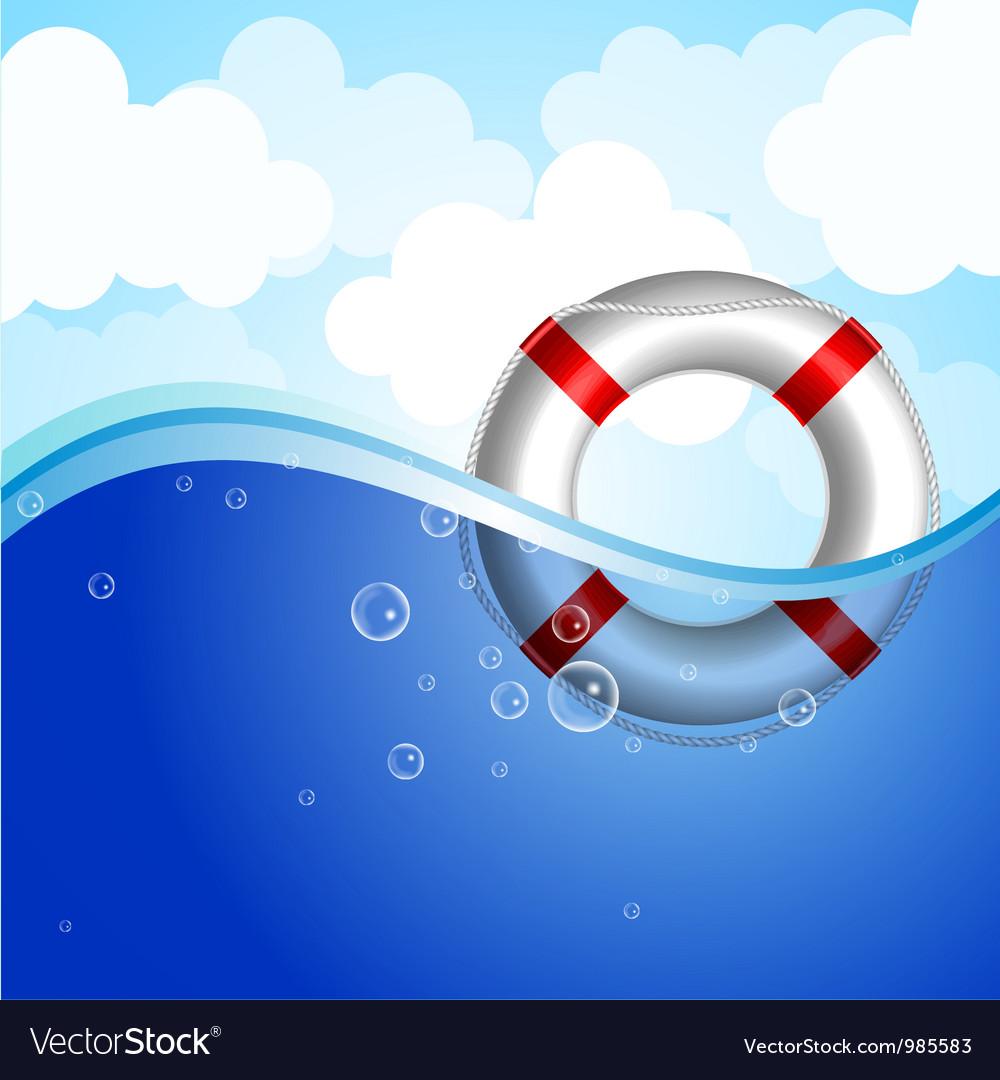 Rescue buoy vector image