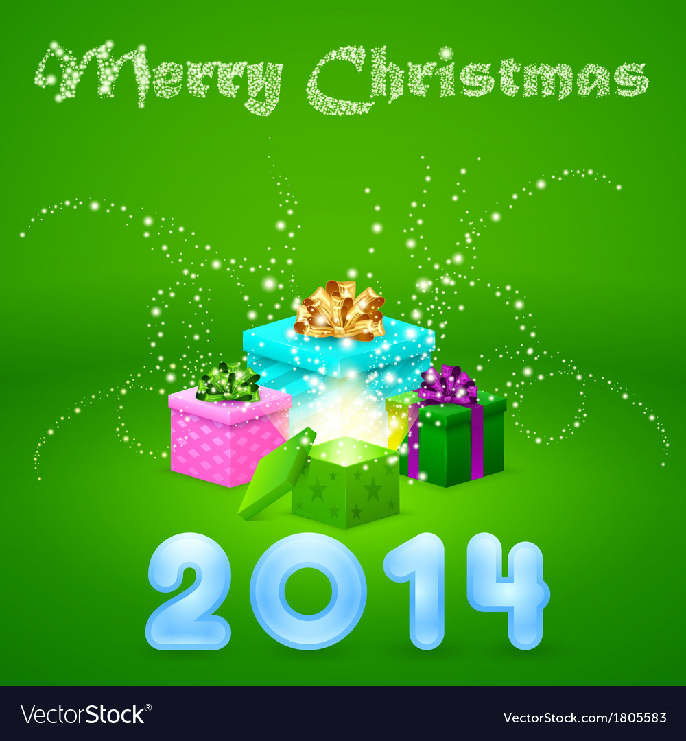 Colorful magic gifts vector image
