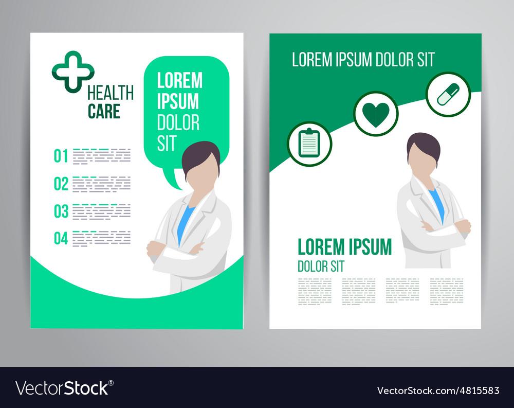 Exceptional Healthcare Brochure Vector Image