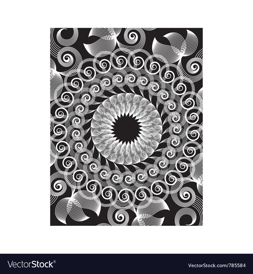 Spirograph art design vector image