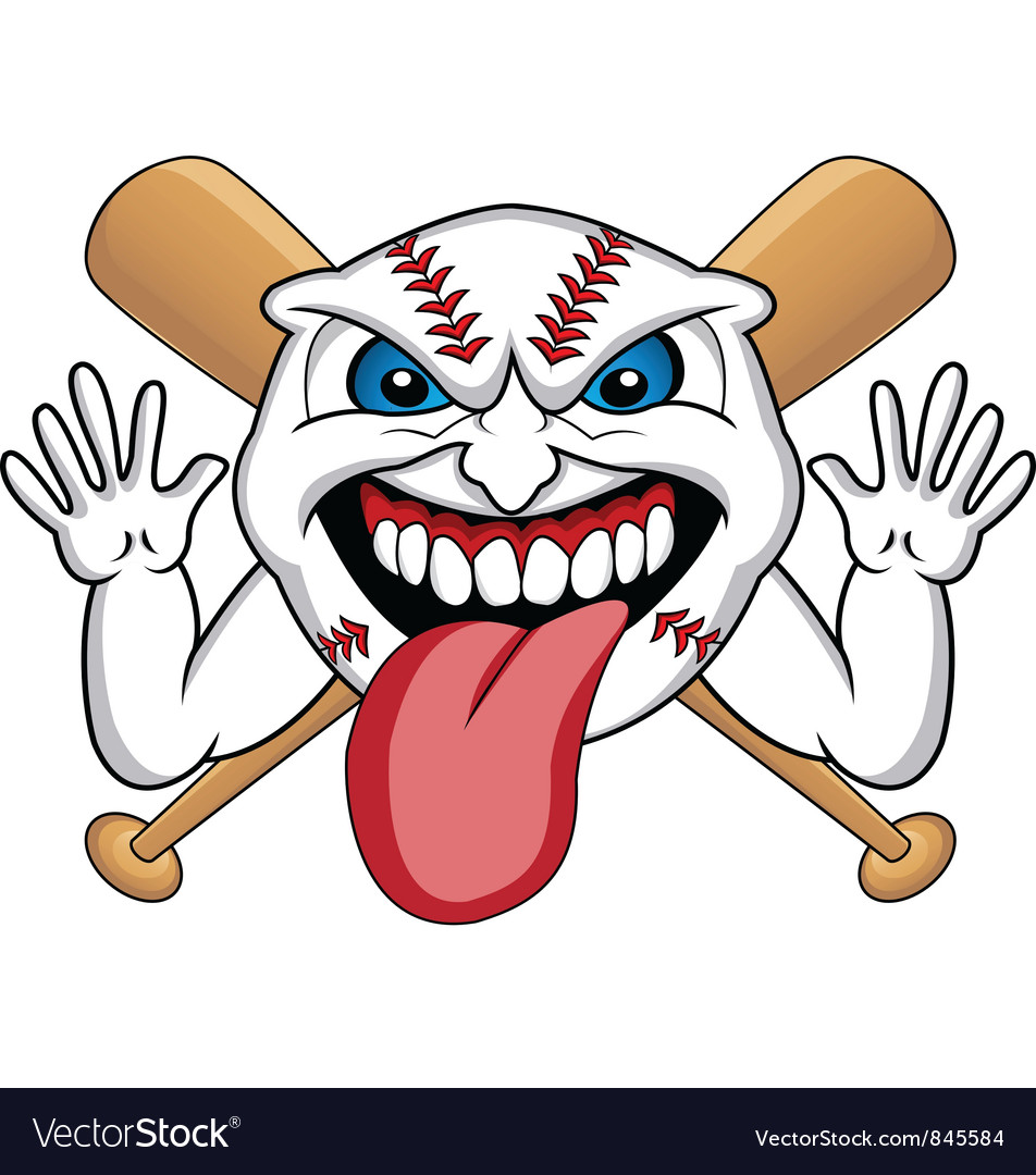 Baseball face vector image