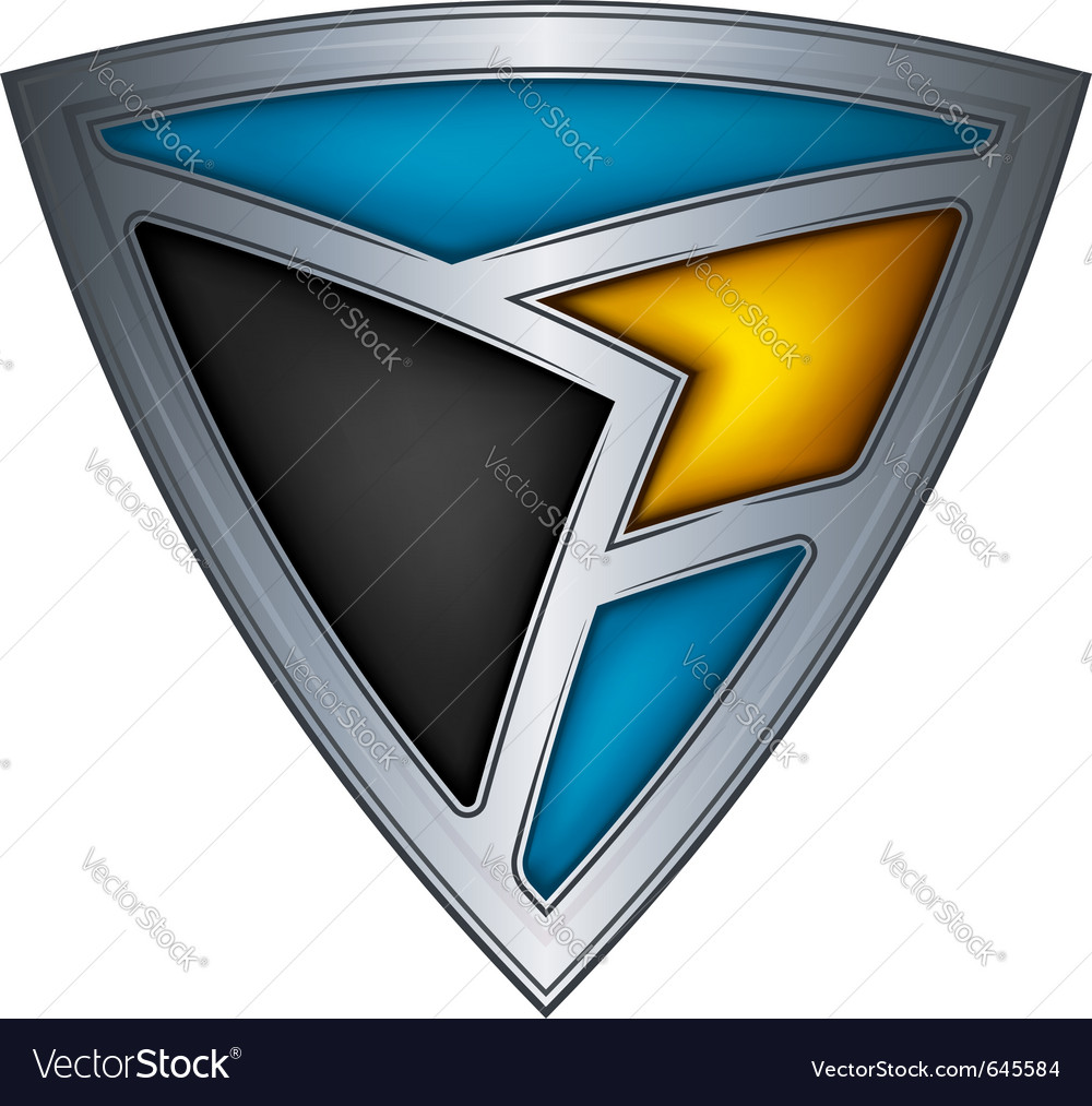 Steel shield with flag bahamas vector image
