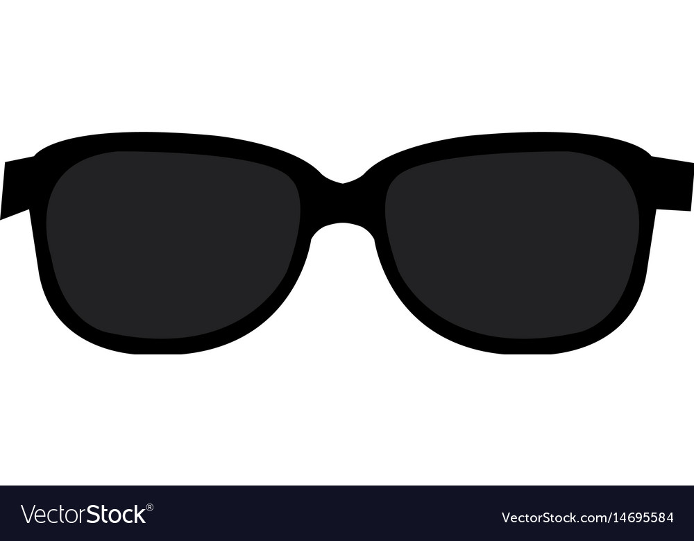 Sunglasses fashion isolated icon vector image