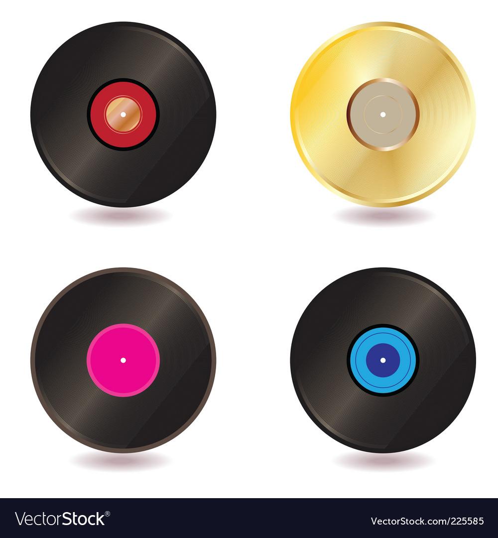 Vinyl lp vector image