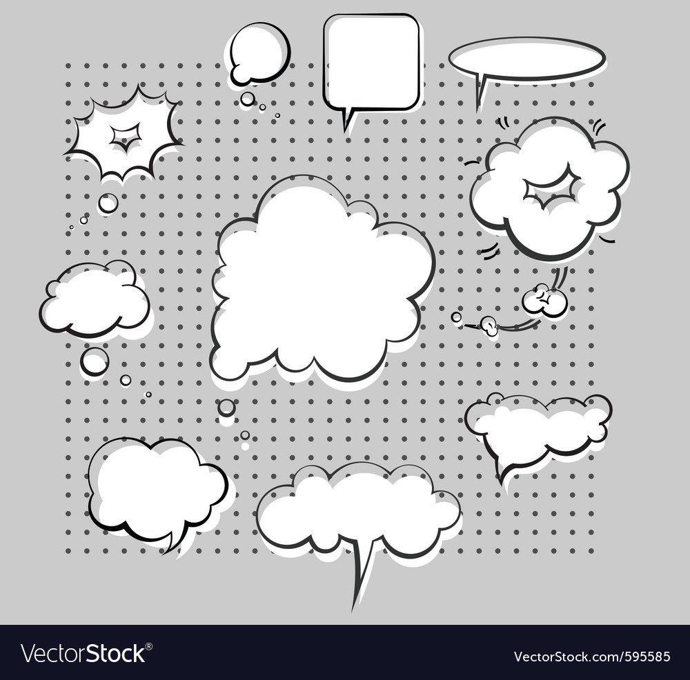 Chat bubbles vector image