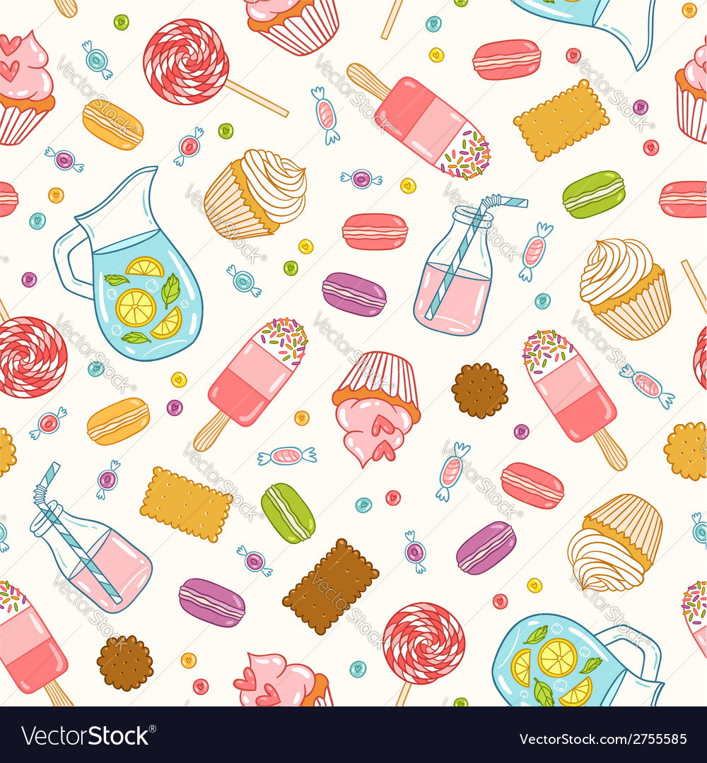 Make it sweet seamless pattern vector image