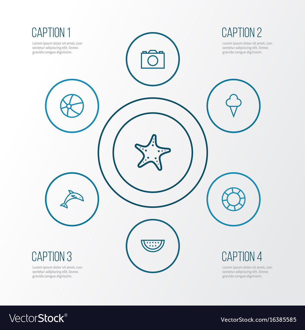 Sun outline icons set collection of sea star vector image sun outline icons set collection of sea star vector image sciox Images