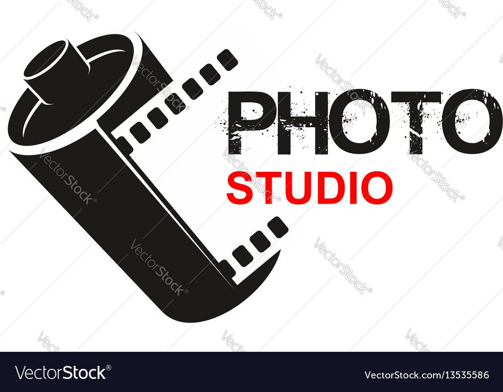 Photo studio camera film icon vector image