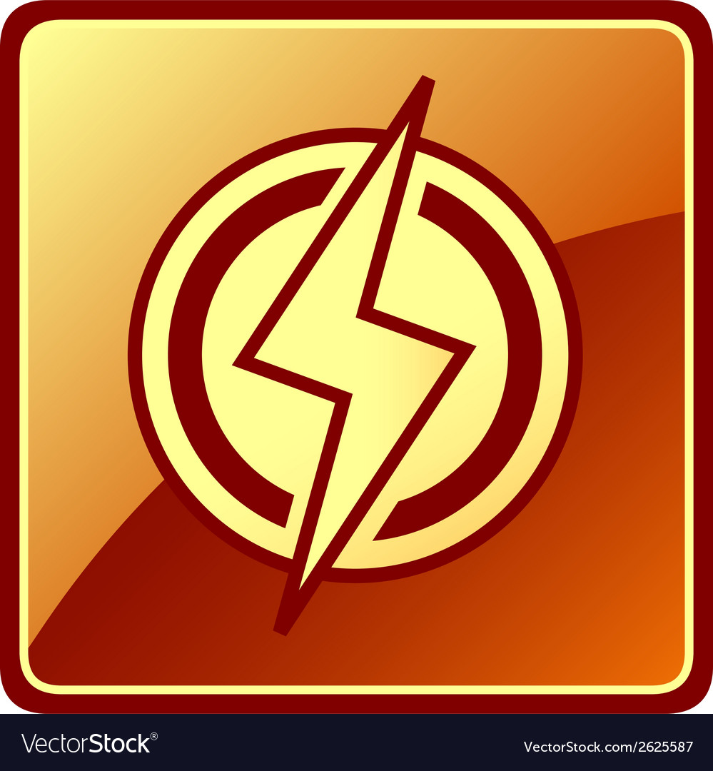 Isolated power icon vector image