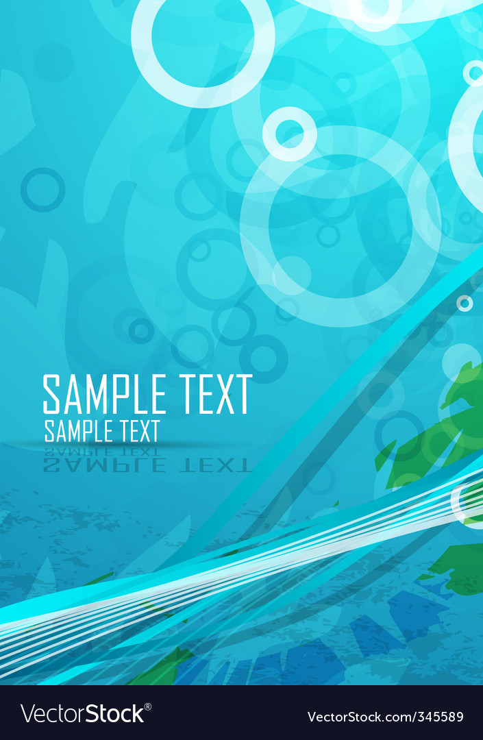 Aqua themed background vector image