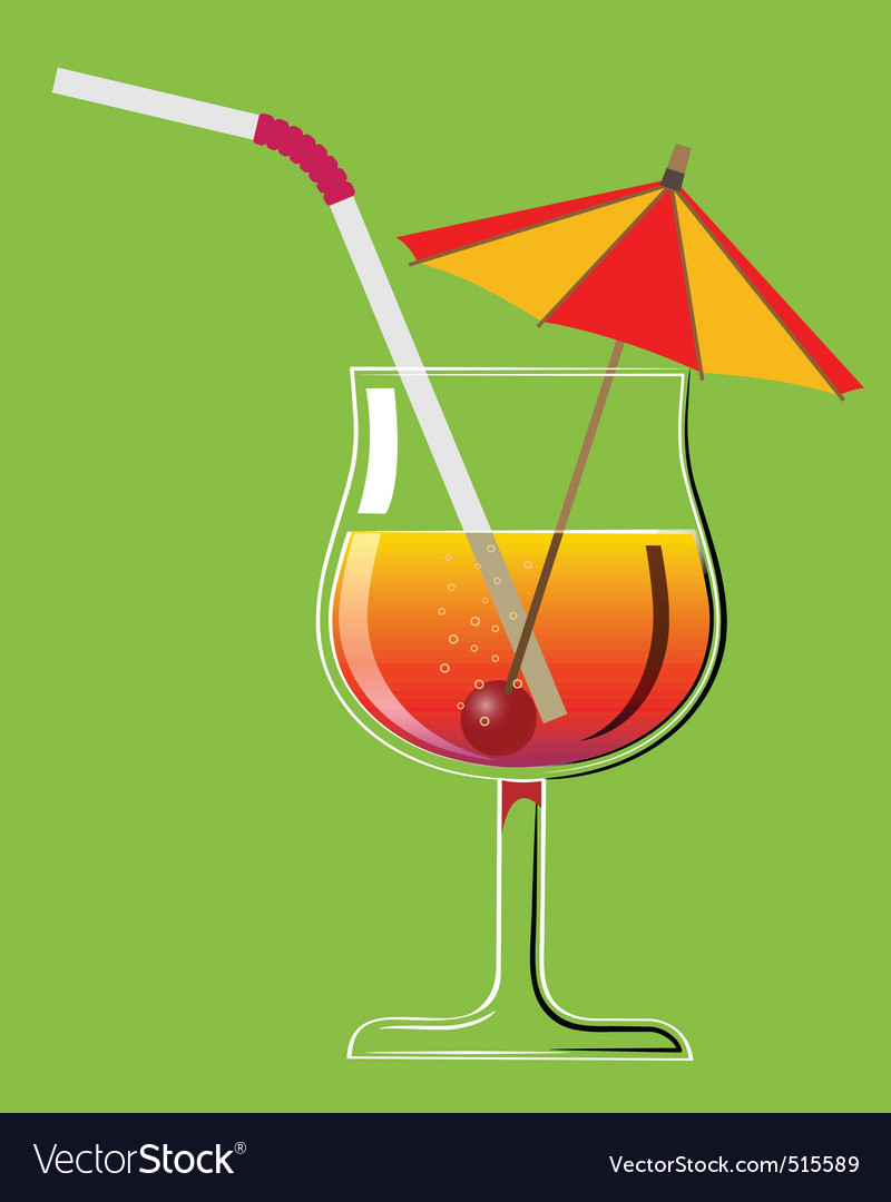 Cocktail 2 vector image