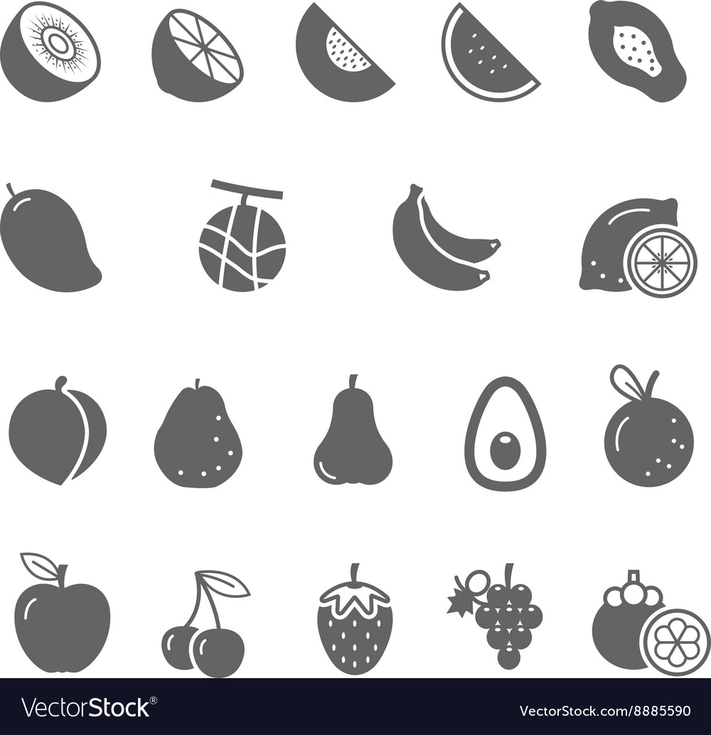 Icon set - fruit vector image
