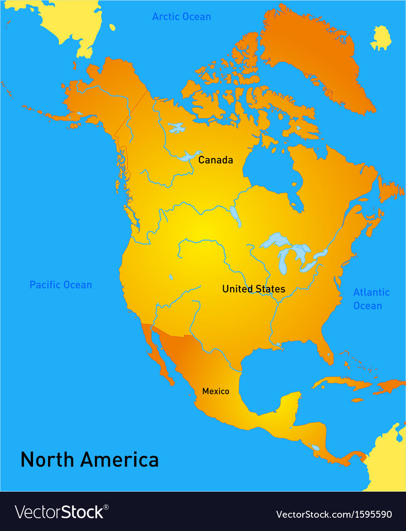 North america vector image