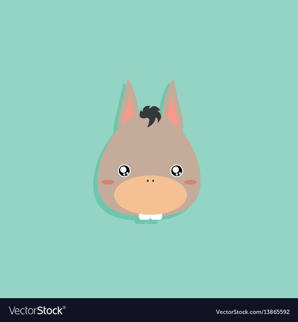 Cartoon donkey face vector image