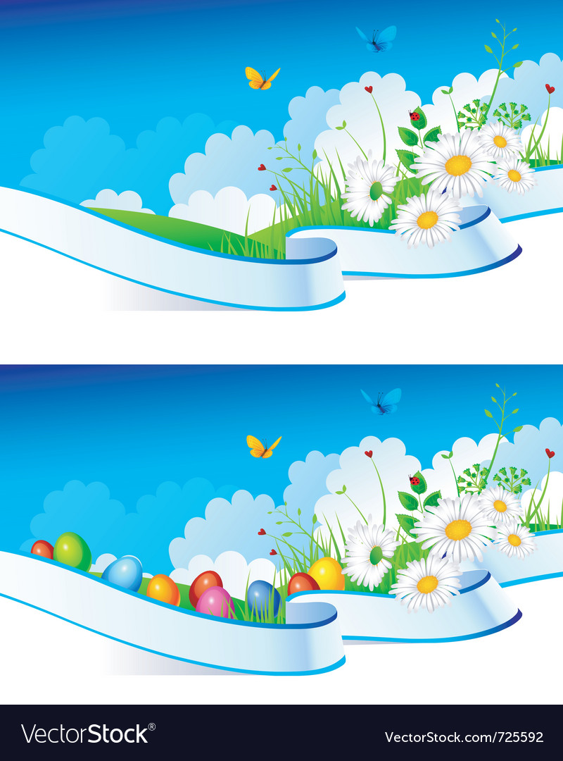 Summer ribbon easter vector image