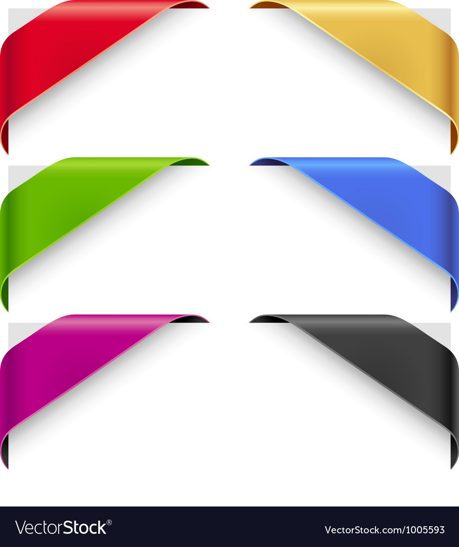 Corner ribbons set for a new sale and sold vector image