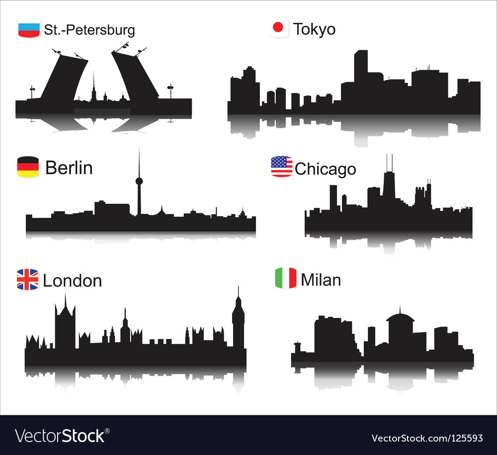 World cities vector image