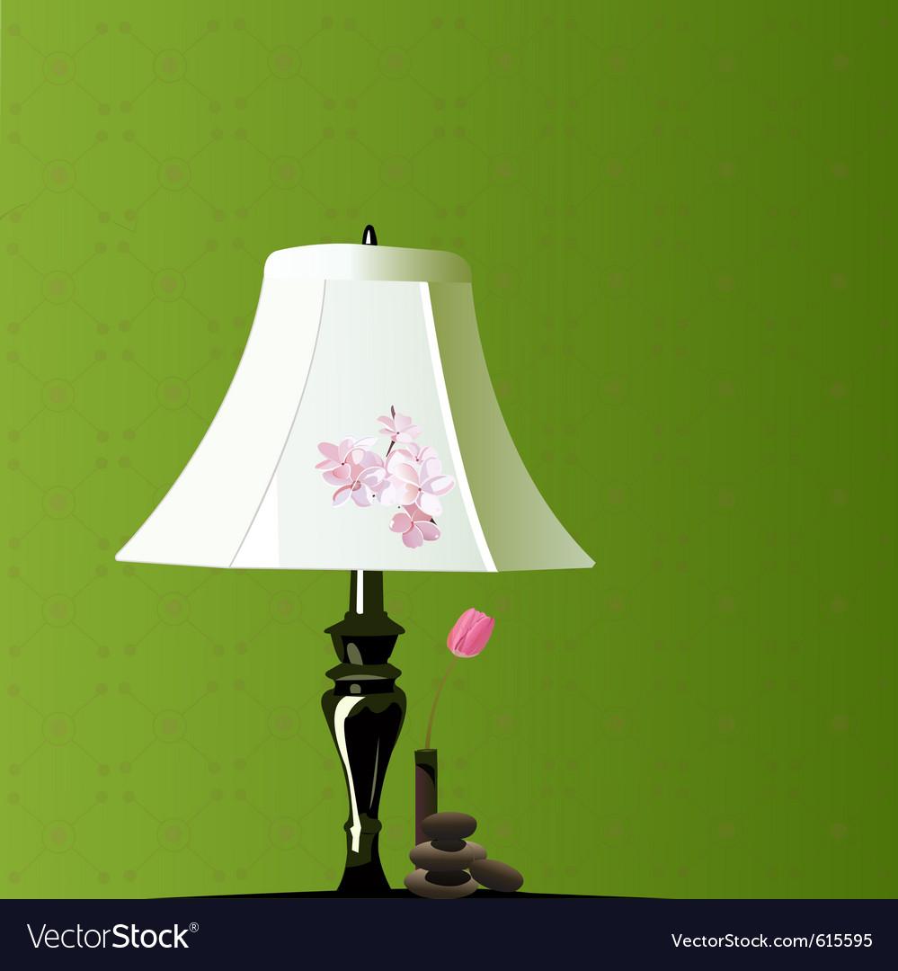 Bedroom lamp vector image