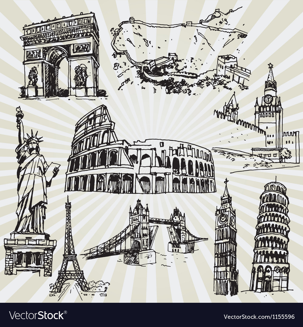 Sightseeing vector image