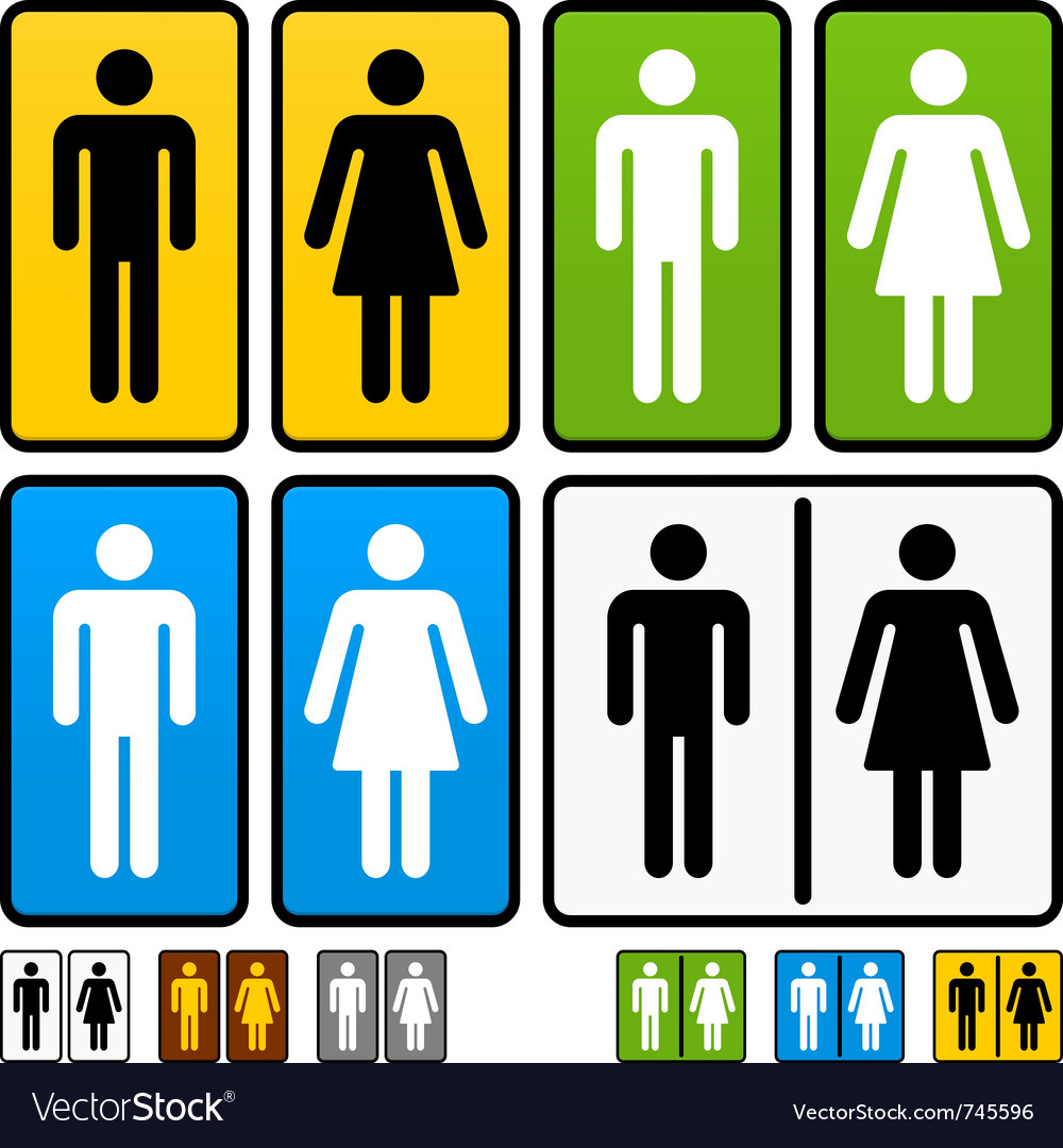 Male and female restrooms sign vector image